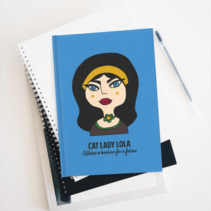 Cat Lady Lola Journal - Ruled Line
