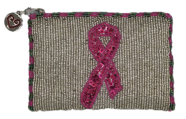 Pink Ribbon Coin Purse