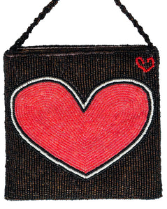 Brown Heart Disco Bag