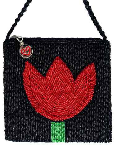 Red Tulip Disco Bag