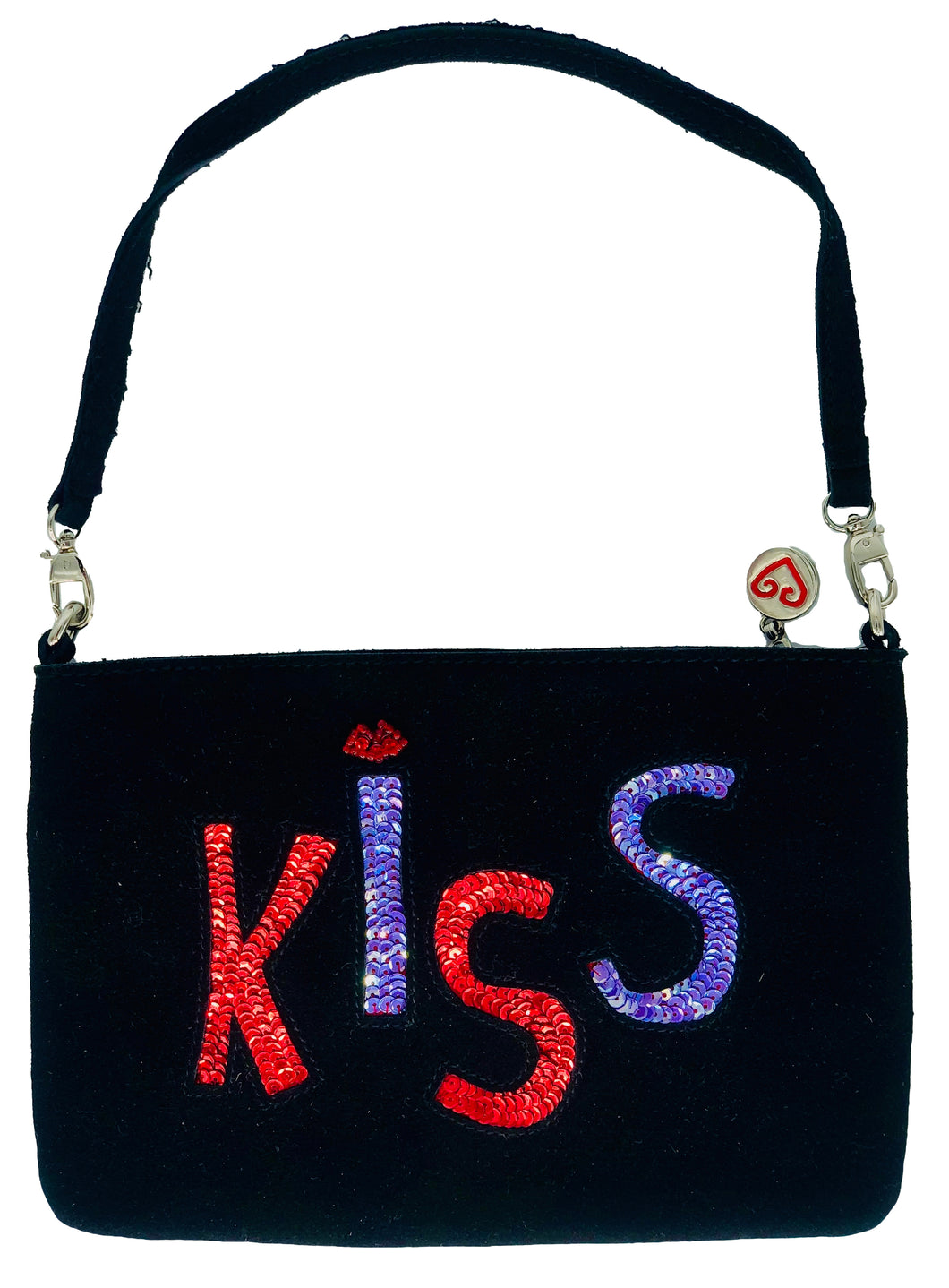 Kiss Suede Clutch