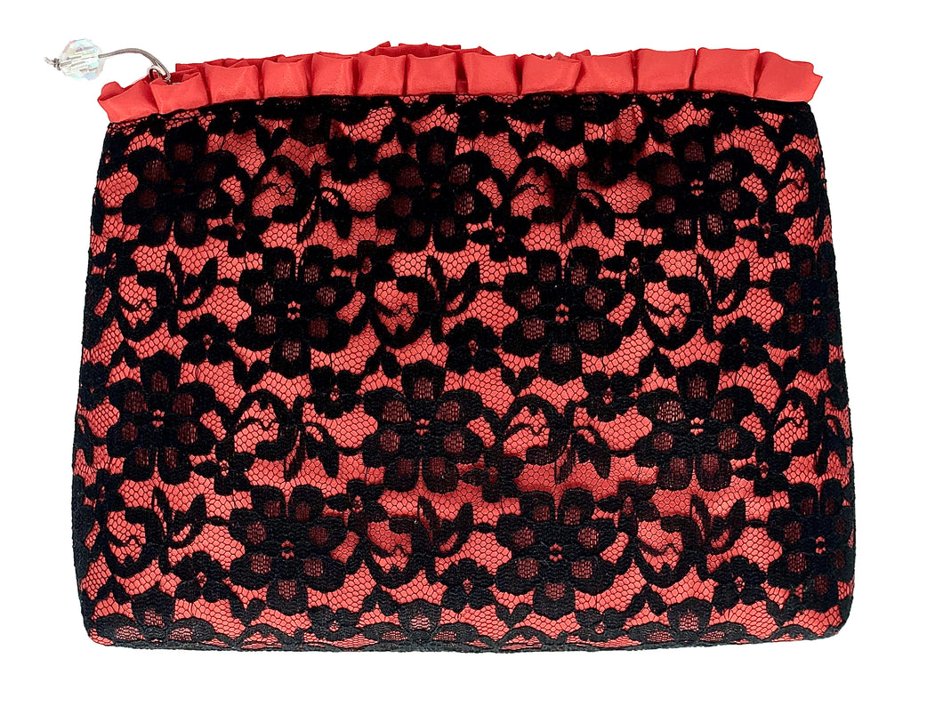 Red Lace Cosmetic Bag