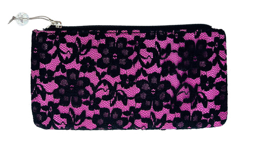 Pink Lace Cosmetic Bag
