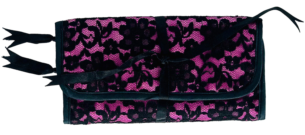 Pink Lace Jewelry Pouch
