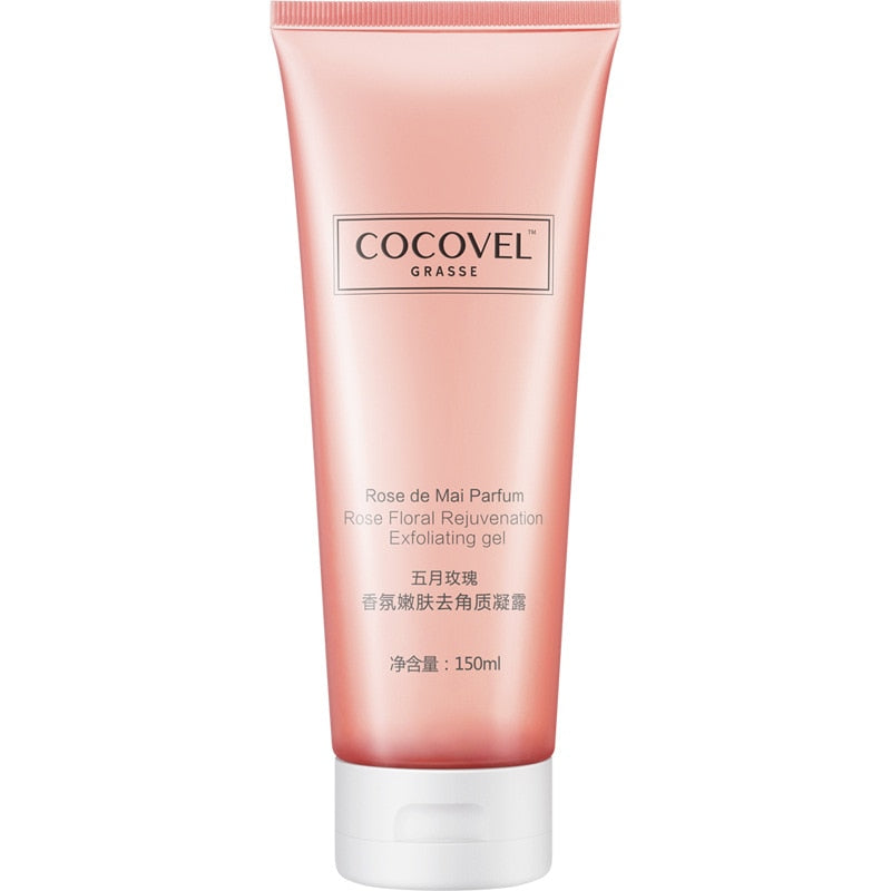 COCOVEL May Rose Exfoliating Body Gel for Men and Women to Deep Clean