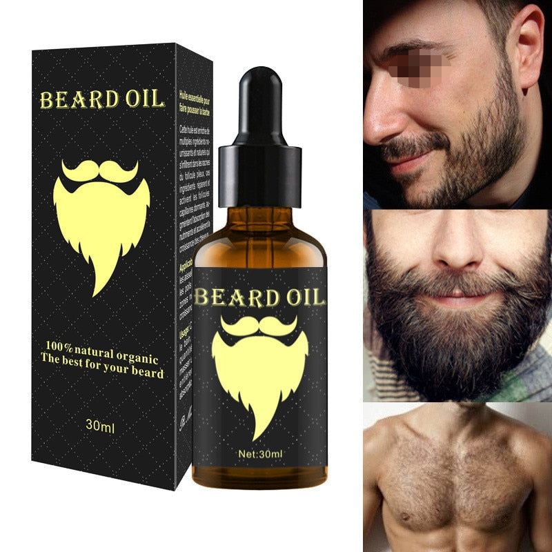 100% Natural Accelerate Facial Hair Grow Oi;