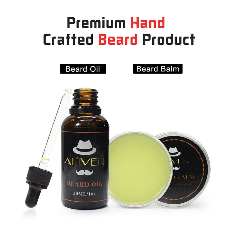 2pcs/set Beard Balm & Oil