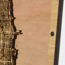 Load image into Gallery viewer, Chicago, IL - 15x15in Laser Cut Wooden Map
