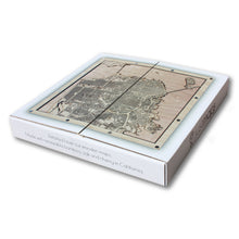 Load image into Gallery viewer, Berkeley and Oakland, CA - 15x15in Laser Cut Wooden Map