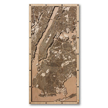 Load image into Gallery viewer, New York City, NY - 15x30in Laser Cut Wooden Map