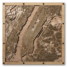 Load image into Gallery viewer, Manhattan, NY - 15x15in Laser Cut Wooden Map