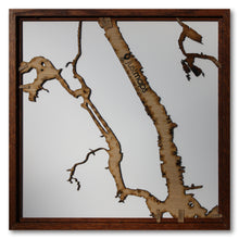 Load image into Gallery viewer, Manhattan, NY - 15x15in Upcycled Laser Cut Wooden Map