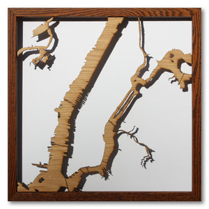 Manhattan, NY - 15x15in Upcycled Laser Cut Wooden Map
