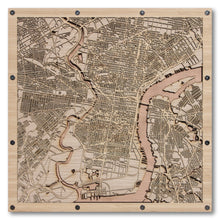 Load image into Gallery viewer, Philadelphia, PA - 15x15in Laser Cut Wooden Map