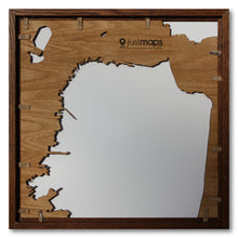 Load image into Gallery viewer, San Francisco, CA - 15x15in Upcycled Laser Cut Wooden Map