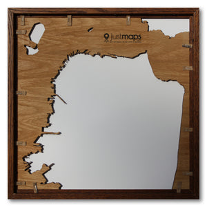 San Francisco, CA - 15x15in Upcycled Laser Cut Wooden Map