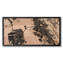 Load image into Gallery viewer, San Francisco, Oakland and Berkeley, CA - 30x15in Laser Cut Wooden Map