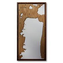 Load image into Gallery viewer, San Francisco Peninsula, CA - 15x30in Upcycled Laser Cut Wooden Map