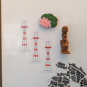 San Francisco's Sutro Tower Stickers & Magnets