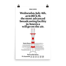 Load image into Gallery viewer, Sutro Tower 1973 Newspaper Ad Replica Poster