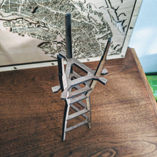 Load image into Gallery viewer, San Francisco's Sutro Tower - 15in Laser Cut Wooden 3D Model