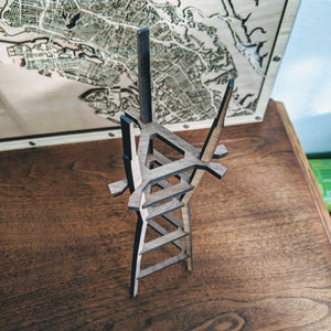 San Francisco's Sutro Tower - 15in Laser Cut Wooden 3D Model