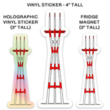 Load image into Gallery viewer, San Francisco's Sutro Tower Stickers & Magnets