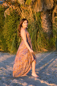 Muy Maxi Cotton Dress in Sand