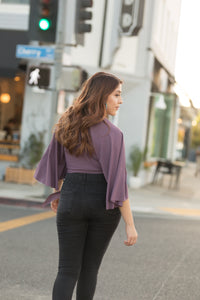 Mariposa Blouse in Eggplant