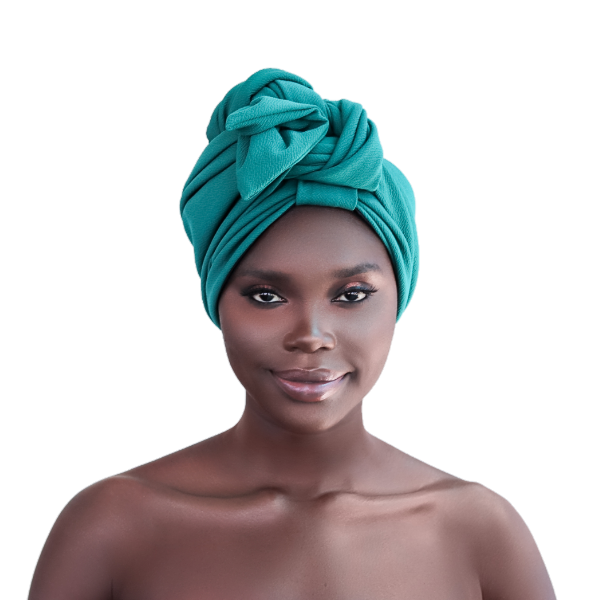Teal Satin Lined Turban - CC L'amour
