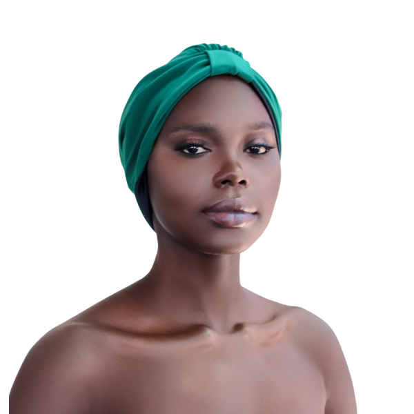 Green Satin Lined Turban Hat - CC L'amour