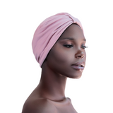 Mauve Satin Lined Turban Hat - CC L'amour
