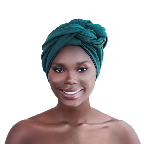 Emerald Green Satin Lined Turban - CC L'amour