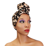 Leopard Satin Lined Turban - CC L'amour
