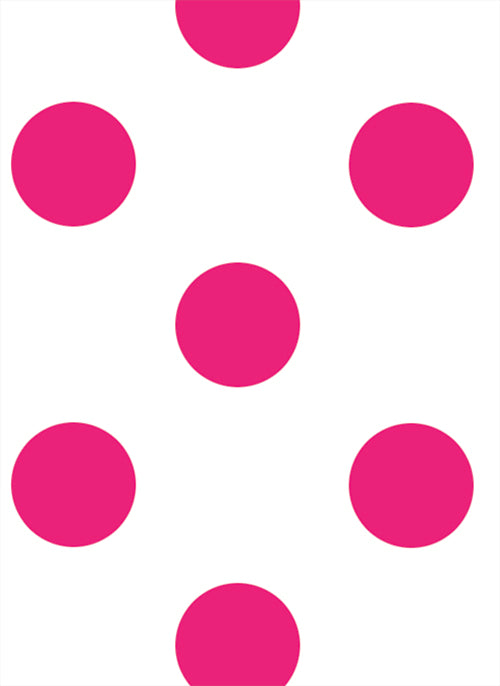 Hot Pink Dot - Back to School Deluxe Magnetic Locker Wallpaper