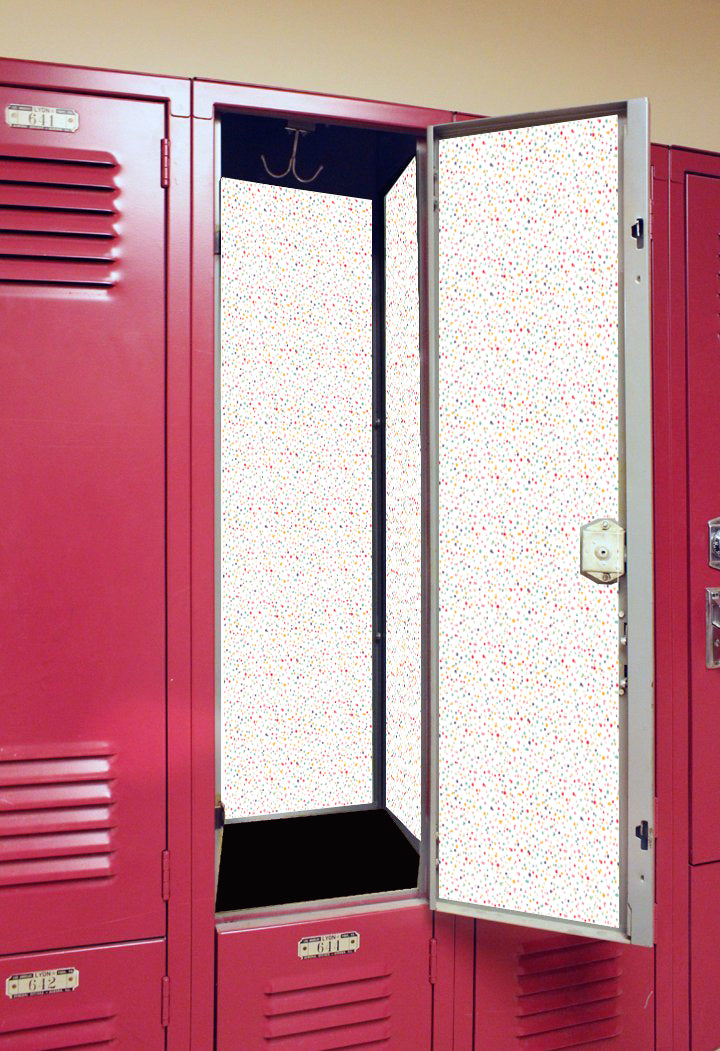 Rainbow Sprinkles - Back to School Deluxe Magnetic Locker Wallpaper