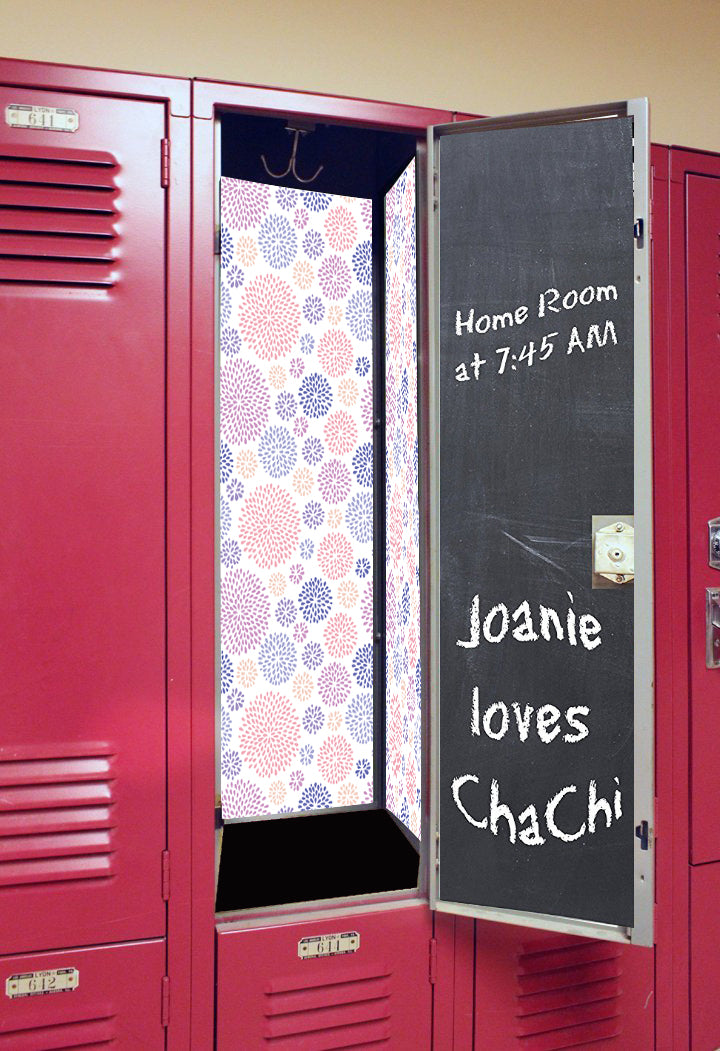 Back to School Deluxe Magnetic Locker Wallpaper - Starburst
