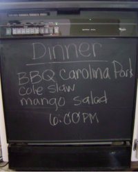 dishwasher chalkboard