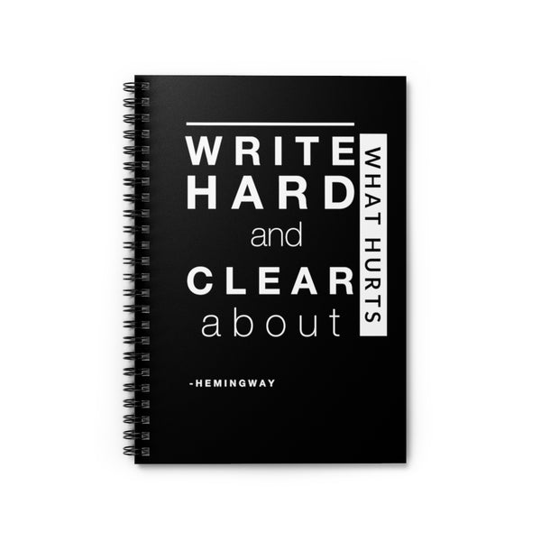 Hard and Clear Notebook