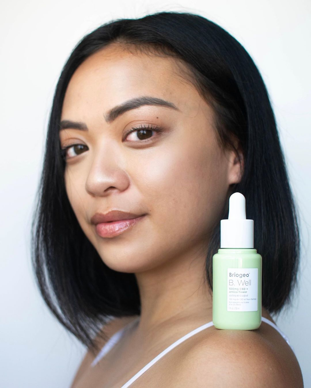 <p>Every masterpiece starts as a blank canvas and a little bit of self-love. Thanks to Briogeo 's new 100mg CBD + Arnica Flower Soothing Skin and Scalp Oil, my skin has been glowin' different! Nothing is better than loving the skin that I'm in. Most days, I go without wearing makeup, but on the days that I do, lately, it has been blending seamlessly because of the moisture that this product has given my skin. Compared to other oils that I've tried, this one is so lightweight and doesn't make me feel sticky!</p>