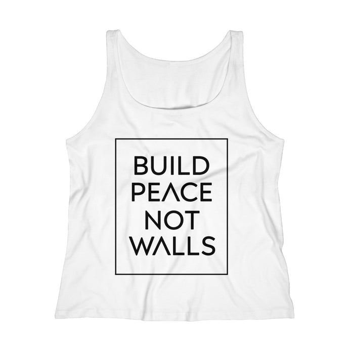 Build Peace Not Walls Women's Relaxed Jersey Tank Top