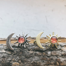 Load image into Gallery viewer, Sun and Moon Sculptural Statement Ring