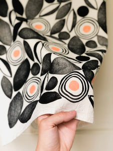 Pop of Peach Tea Towel