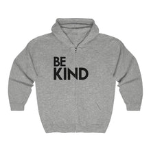 Load image into Gallery viewer, Be Kind Unisex Heavy Blend™ Full Zip Hooded Sweatshirt