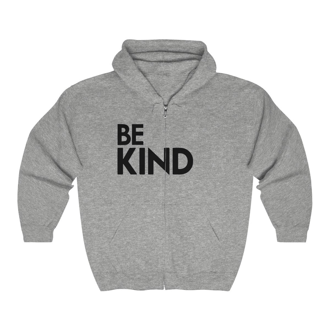 Be Kind Unisex Heavy Blend™ Full Zip Hooded Sweatshirt