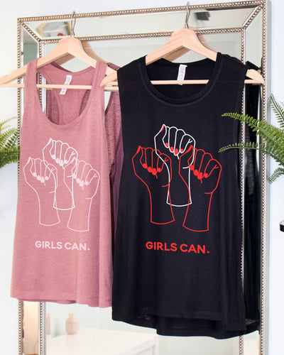 GIRLS CAN. Feminist Tank Top (more styles / colors)