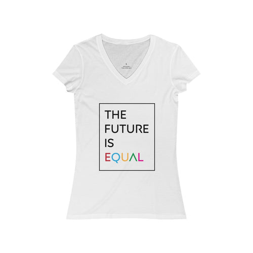 The Future is Equal Women's Jersey Short Sleeve V-Neck Tee