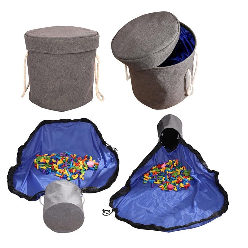 KidoPlay™ Portable Toy Storage Bucket