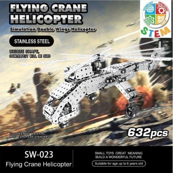 Metalblockz™ Flying Crane Helicopter (632Pcs)
