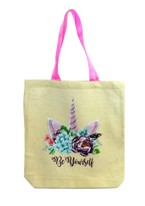 Be Yourself Canvas Tote
